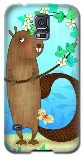 B Is For Beaver With A Blossoming Branch Galaxy S5 Case