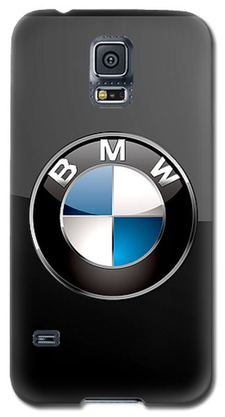 B M W  3 D Badge On Black Galaxy S5 Case