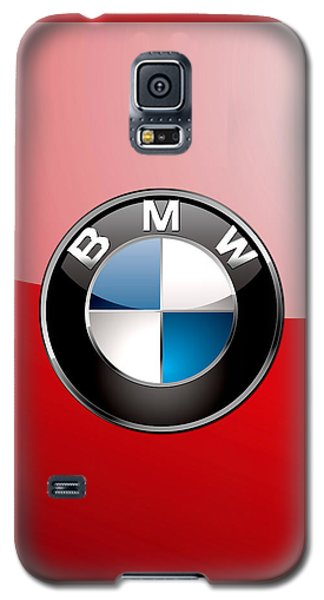 Sport Galaxy S5 Case - B M W Badge On Red  by Serge Averbukh