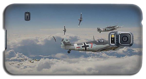 Galaxy S5 Case featuring the digital art B17 - Luftwaffe Battleground by Pat Speirs