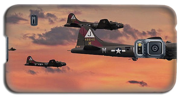 Galaxy S5 Case featuring the digital art B17 - Sunset Home by Pat Speirs