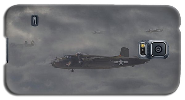 Galaxy S5 Case featuring the digital art B25 - 12th Usaaf by Pat Speirs