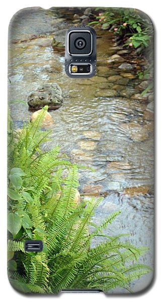 Galaxy S5 Case featuring the photograph Babble Brook by Amanda Eberly-Kudamik
