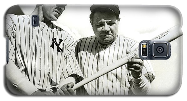 Babe Ruth And Lou Gehrig Galaxy S5 Case by Jon Neidert