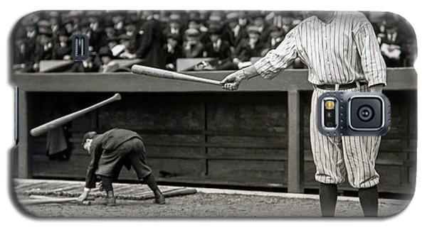 Babe Ruth Galaxy S5 Case - Babe Ruth At Bat by Jon Neidert