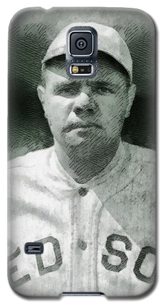 Babe Ruth Galaxy S5 Case - Babe Ruth, Baseball Player by John Springfield