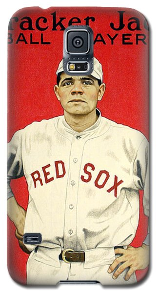 Babe Ruth Galaxy S5 Case - Babe Ruth Cracker Jack Card by Jon Neidert