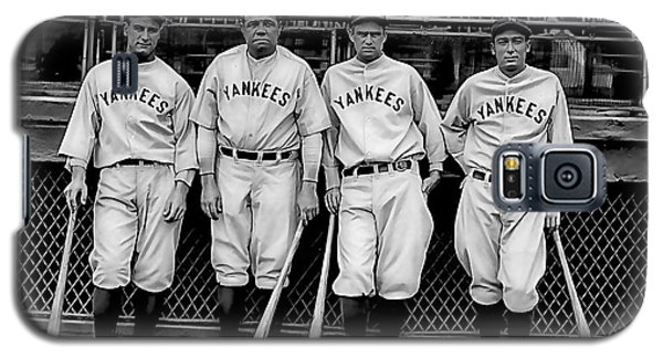 Babe Ruth Lou Gehrig And Joe Dimaggio Galaxy S5 Case by Marvin Blaine