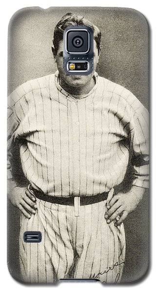 Babe Ruth Portrait Galaxy S5 Case by Jon Neidert