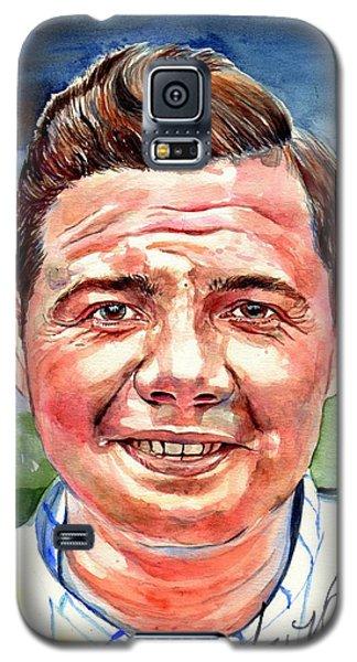 Babe Ruth Galaxy S5 Case - Babe Ruth Portrait by Suzann's Art