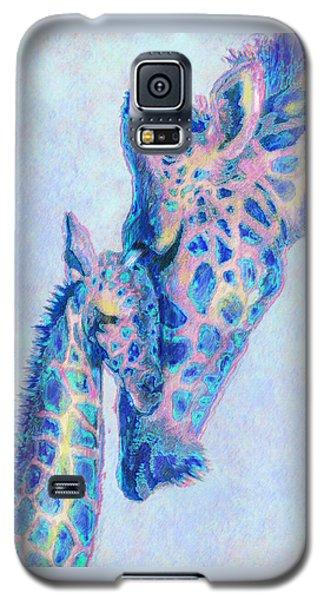 Baby Blue  Giraffes Galaxy S5 Case by Jane Schnetlage