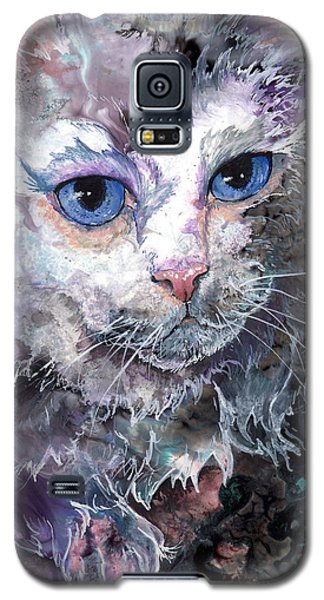 Galaxy S5 Case featuring the painting Baby Blues by Sherry Shipley