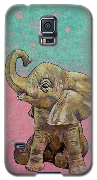 Elephant Galaxy S5 Case - Baby Elephant by Michael Creese