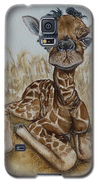 New Born Baby Giraffe Galaxy S5 Case by Kelly Mills