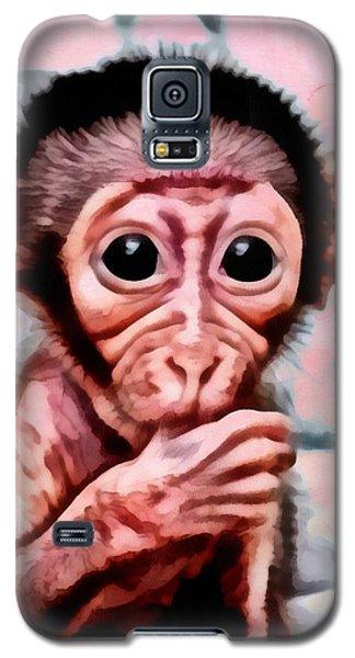 Baby Monkey Realistic Galaxy S5 Case by Catherine Lott