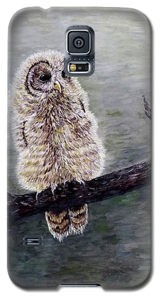 Galaxy S5 Case featuring the painting Baby Owl by Judy Kirouac