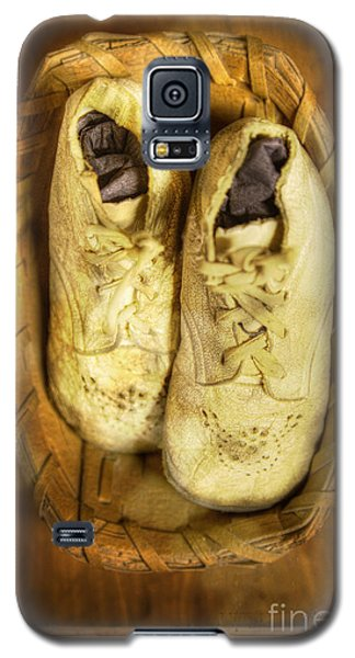 Galaxy S5 Case featuring the photograph Baby White Shoes by Craig J Satterlee
