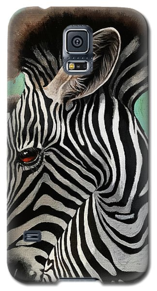 Galaxy S5 Case featuring the painting Baby Zebra by Linda Apple