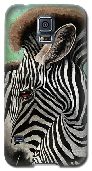 Baby Zebra Galaxy S5 Case by Linda Apple