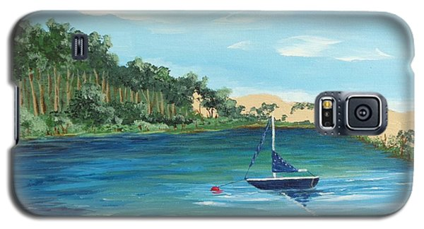 Galaxy S5 Case featuring the painting Back Bay From Back Bay Inn Los Osos Ca by Katherine Young-Beck