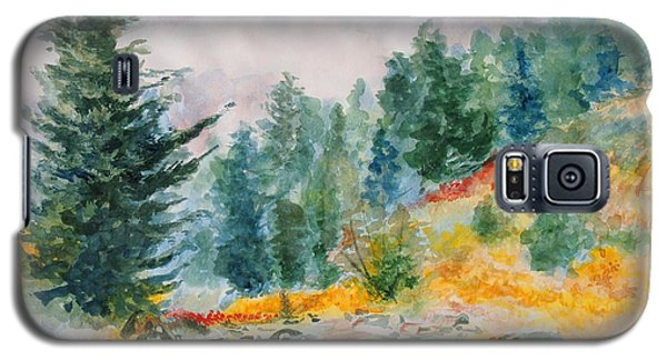 Galaxy S5 Case featuring the painting Afternoon In The Backcountry by Andrew Gillette