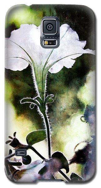 Backlit White Flower Galaxy S5 Case