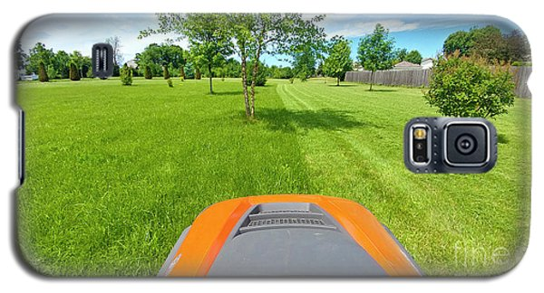 Galaxy S5 Case featuring the photograph Backyard Mowing by Ricky L Jones