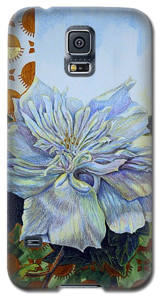Galaxy S5 Case featuring the mixed media Backyard Splendor by Suzanne McKee