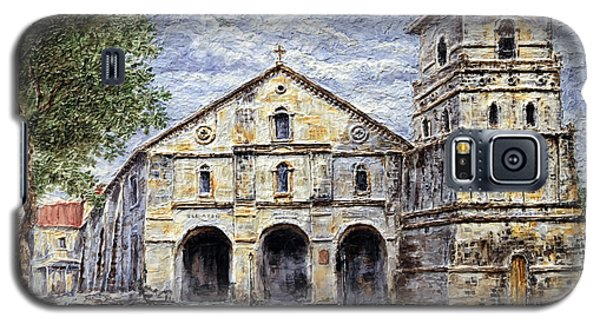 Galaxy S5 Case featuring the painting Baclayon Church by Joey Agbayani