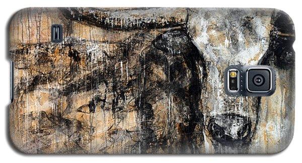 Bad Attitude Texas Longhorn Contemporary Painting Galaxy S5 Case by Jennifer Godshalk