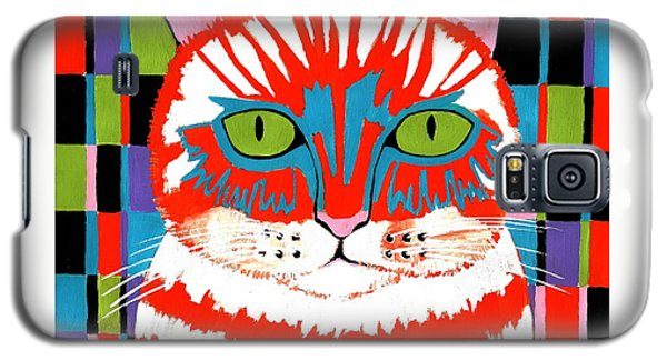 Galaxy S5 Case featuring the painting Bad Cattitude by Kathleen Sartoris
