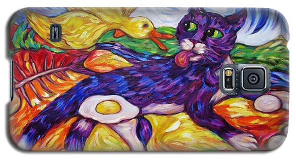 Bad Kitty Gets Caught Again Galaxy S5 Case