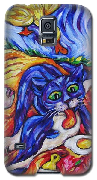 Bad Kitty Gets Caught Galaxy S5 Case by Dianne  Connolly