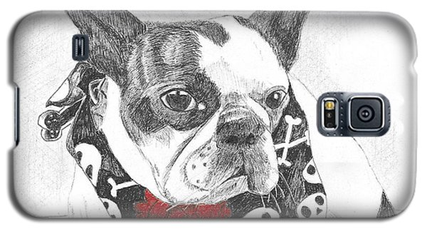 Galaxy S5 Case featuring the drawing Bad To The Bone by Arlene Crafton