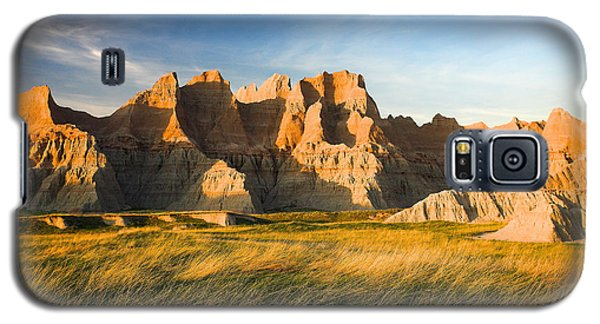 Galaxy S5 Case featuring the photograph Badlands In Late Afternoon by Rikk Flohr
