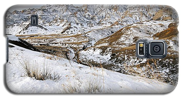 Badlands In Snow Galaxy S5 Case