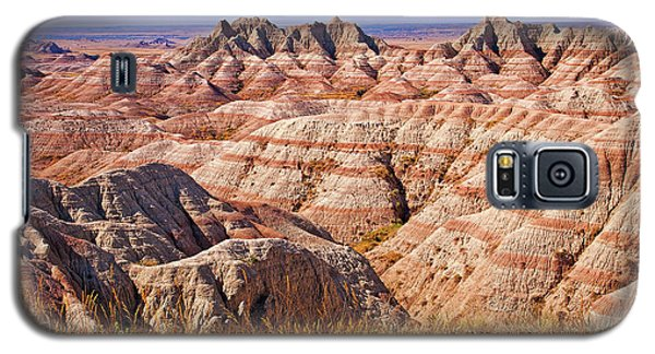Galaxy S5 Case featuring the photograph Badlands by Mary Jo Allen