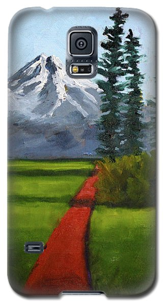 Galaxy S5 Case featuring the painting Baker Meadow by Nancy Merkle