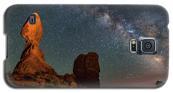 Balanced Rock And Milky Way Galaxy S5 Case