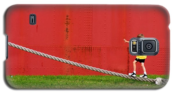 Balancing On Harbor Time Galaxy S5 Case