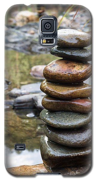 Balancing Zen Stones In Countryside River Vii Galaxy S5 Case