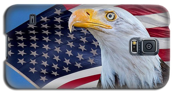 Bald Eagle And American Flag Galaxy S5 Case