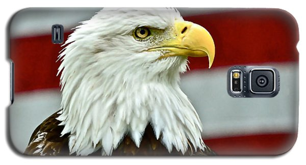 Bald Eagle And Old Glory Galaxy S5 Case