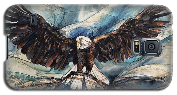 Galaxy S5 Case featuring the painting Bald Eagle by Christy Freeman