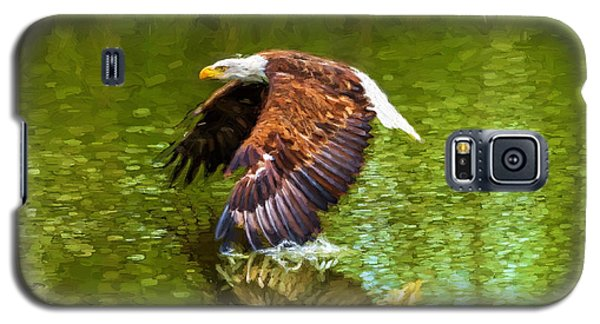 Bald Eagle Cutting The Water Galaxy S5 Case