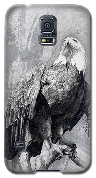Galaxy S5 Case featuring the drawing Bald Eagle Drawing by Steve Goad