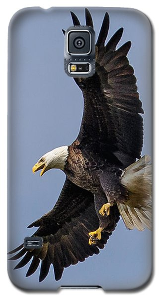 Galaxy S5 Case featuring the photograph Bald Eagle Flyer by Phil Stone