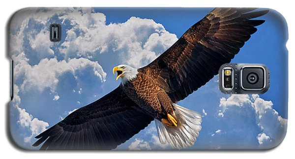 Bald Eagle In Flight Calling Out Galaxy S5 Case