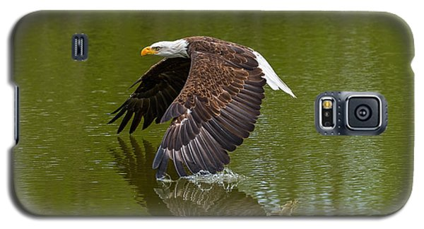 Bald Eagle In Low Flight Over A Lake Galaxy S5 Case
