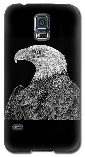 Bald Eagle Scratchboard Galaxy S5 Case